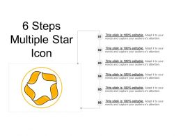6 Steps Multiple Star Icon PPT Icon