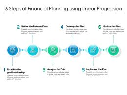 6 Steps Of Financial Planning Using Linear Progression