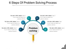6 Steps Of Problem Solving Process Powerpoint Show
