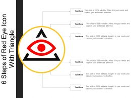 6 Steps Of Red Eye Icon With Triangle