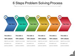 6 Steps Problem Solving Process Powerpoint Slide