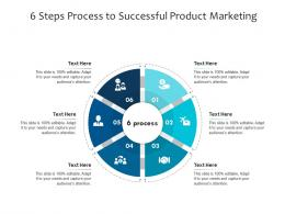 6 Steps Process To Successful Product Marketing Infographic Template