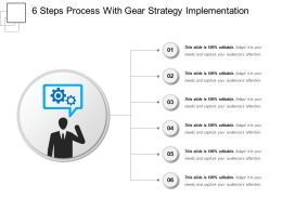6 Steps Process With Gear Strategy Implementation