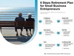 6 Steps Retirement Plan For Small Business Entrepreneurs