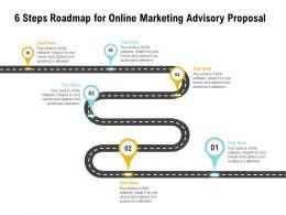 6 Steps Roadmap For Online Marketing Advisory Proposal Ppt Powerpoint Gridline