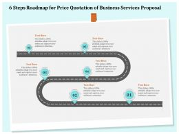 6 Steps Roadmap For Price Quotation Of Business Services Proposal Ppt File Elements