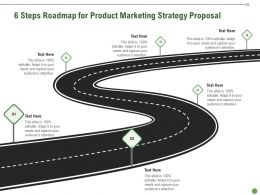 6 Steps Roadmap For Product Marketing Strategy Proposal Ppt Presentation Slides Clipart