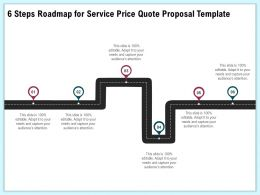 6 Steps Roadmap For Service Price Quote Proposal Template Ppt File Format