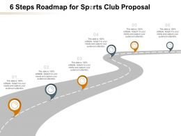 6 Steps Roadmap For Sports Club Proposal Ppt Powerpoint Presentation Example