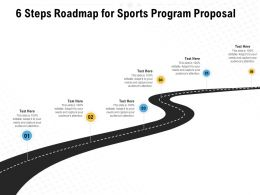 6 Steps Roadmap For Sports Program Proposal Ppt Powerpoint Presentation Examples