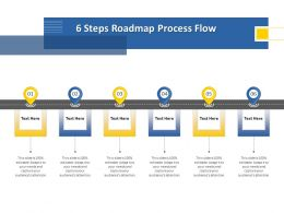 6 Steps Roadmap Process Flow M1248 Ppt Powerpoint Presentation Infographic Template Gridlines