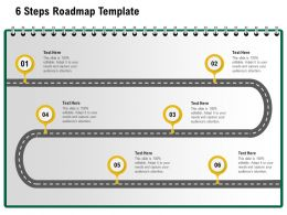 6 Steps Roadmap Template M1233 Ppt Powerpoint Presentation Pictures Topics