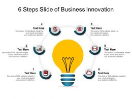 6 Steps Slide Of Business Innovation