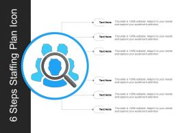 6 Steps Staffing Plan Icon