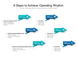 6 Steps To Achieve Operating Rhythm
