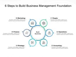 6 Steps To Build Business Management Foundation