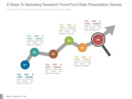 6 Steps To Marketing Research Powerpoint Slide Presentation Sample