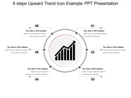 6 Steps Upward Trend Icon Example Ppt Presentation