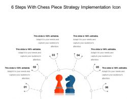 6 Steps With Chess Piece Strategy Implementation Icon