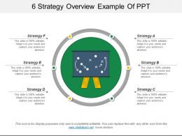 6 Strategy Overview Example Of Ppt