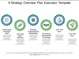 6 Strategy Overview Plan Execution Template