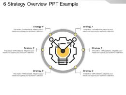 6 Strategy Overview Ppt Example
