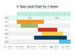 6 Tasks Gantt Chart For 2 Weeks