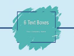 6 Text Boxes Planning Analysis Portfolio Marketing Solution Business