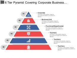 6 Tier Pyramid Covering Corporate Business Unit And Functional Departmental
