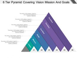 6 Tier Pyramid Covering Vision Mission And Goal