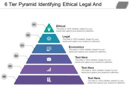 6 Tier Pyramid Identifying Ethical Legal And Economical