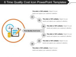 6 Time Quality Cost Icon Powerpoint Templates