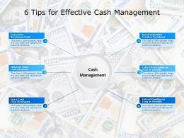 6 Tips For Effective Cash Management