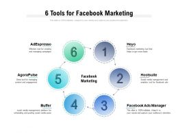 6 Tools For Facebook Marketing