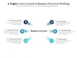 6 Topics To Be Covered In Business Overview Profiling