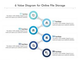 6 Value Diagram For Online File Storage Infographic Template