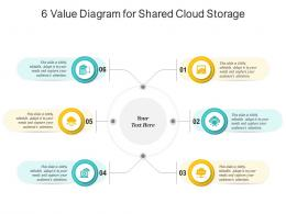 6 Value Diagram For Shared Cloud Storage Infographic Template