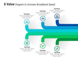 6 Value Diagram To Increase Broadband Speed Infographic Template