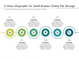 6 Value For Small Business Online File Storage Infographic Template