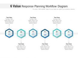 6 Value Response Planning Workflow Diagram Infographic Template