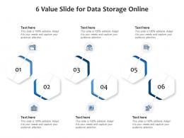 6 Value Slide For Data Storage Online Infographic Template