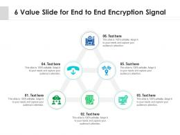 6 Value Slide For End To End Encryption Signal Infographic Template