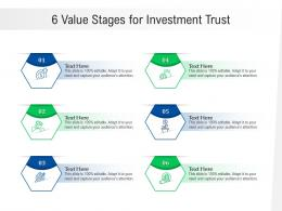 6 Value Stages For Investment Trust Infographic Template