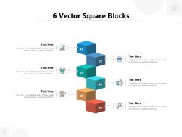 6 Vector Square Blocks
