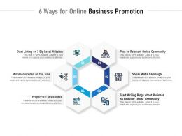 6 Ways For Online Business Promotion
