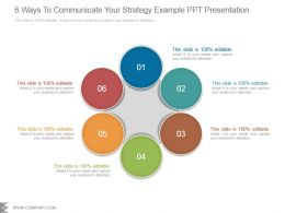 6 Ways To Communicate Your Strategy Example Ppt Presentation