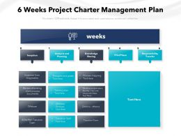 6 Weeks Project Charter Management Plan