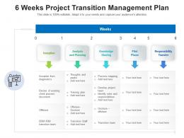 6 Weeks Project Transition Management Plan