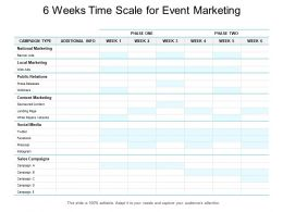 6 Weeks Time Scale For Event Marketing