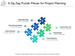 6 Zig Zag Puzzle Pieces For Project Planning
